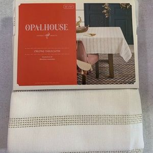 "104""x60 Metallic Tablecloth Opalhouse Gold"